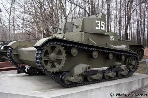 пулемётный танк Т-26 образца 1931 года