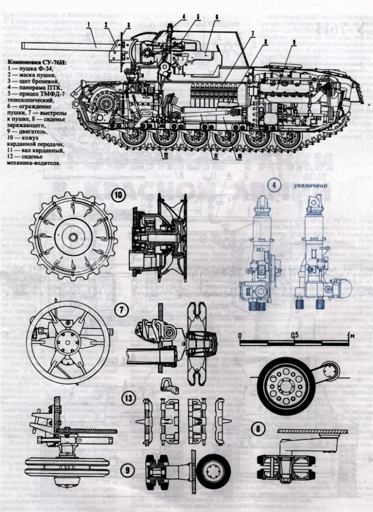 чертежи САУ СУ-76И