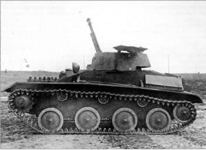 Т-40 с зенитными пулемётами ДШК