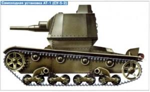 самоходная пушка АТ-1 (СУ-5-2)