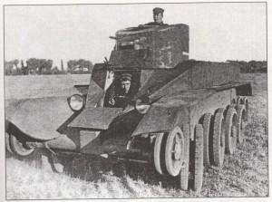 танк БТ-ИС со снятыми гусеницами