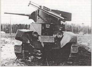 Линейный танк БТ-5 с РС -132