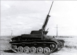 ЗСУ на шасси танка Т-70 с 37 мм зенитной пушкой