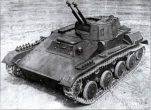 танк Т-70 со спаренными зенитными пулемётами ДШК