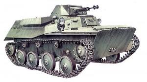 лёгкий танк Т-40 с крупнокалиберным пулемётом