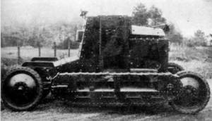 фотография экспериментальной танкетки Т-25