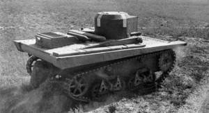 малый танк Т-33 на ходовых испытаниях