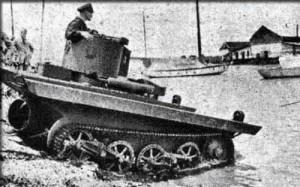 британский амфибийный танк VCL