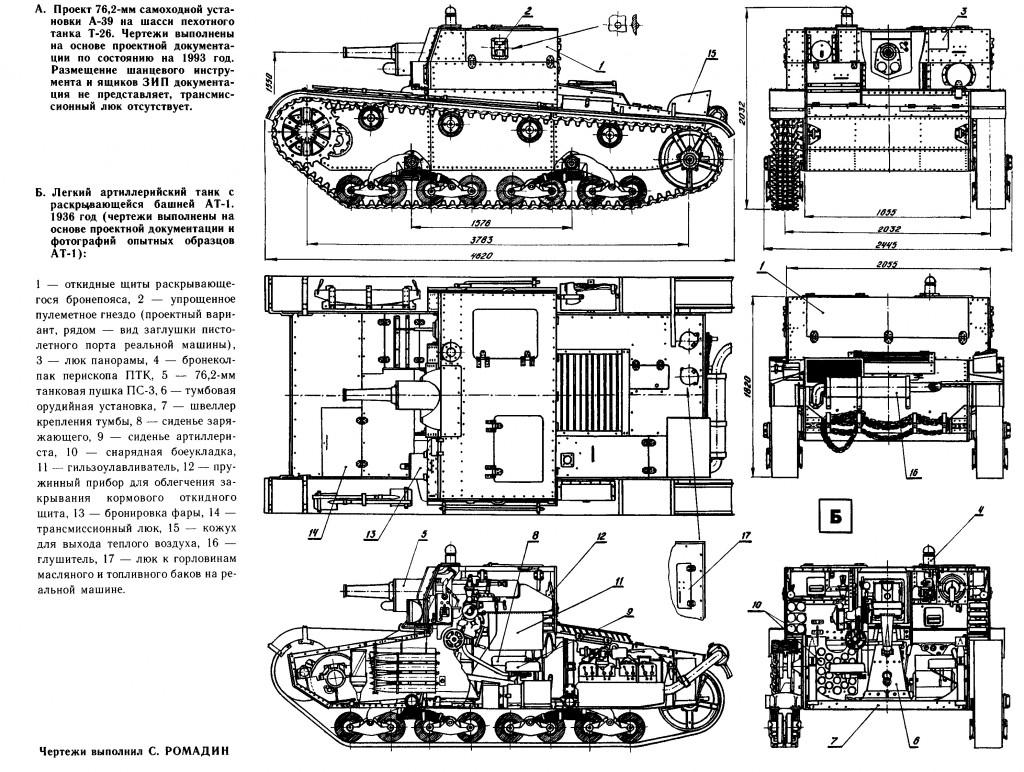 Чертежи САУ А-39 и АТ-1