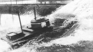 малый плавающий танк Т-41 на испытаниях