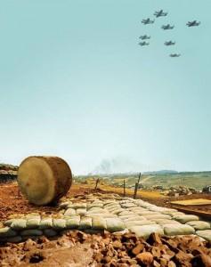 шаровый танк на поле боя