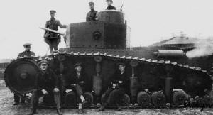 опытный экземпляр танка Т-12 на полигоне