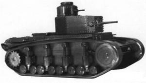танк Т-12 на полигоне