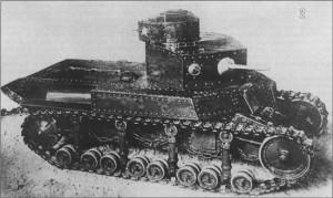 танк Т-12 с установленной пушкой