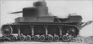 опытный образец танка Т-12 с макетом пушки