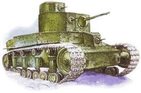 маневренный танк танк Т-12 на заводских испытаниях