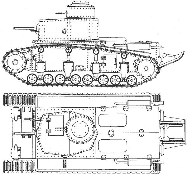 общий вид танка Т-12