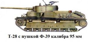 танк Т-28 с пушкой Ф-39