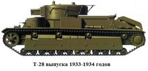 танк Т-28 образца 1933/34 годов