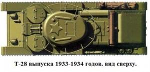 Танк Т-28 образца 1933/34 годов вид сверху