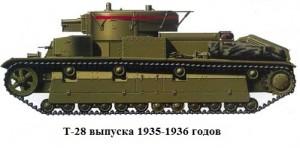 Т-28 образца 1935/36 годов