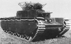 Т-35 на марше