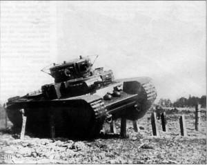 танк Т-35 на маневрах