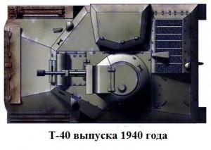 Т-40 образца 1940 года. Вид сверху