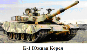 танк К-1 Южная Корея