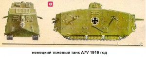 Танкт А7V Германия