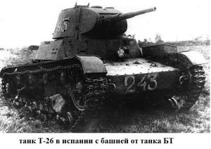 танк Т-26 с башней от БТ