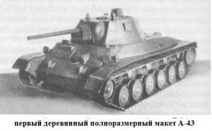 макет танка А-43