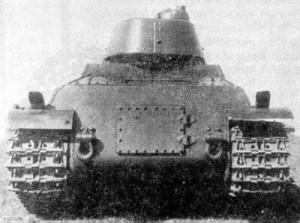 танк Т-100 вид сзади