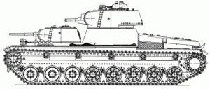 Боковая проекция танка Т-100