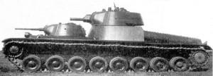 Танк Т-100 на полигонных испытаниях