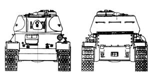 проекции танка Т-43