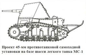противотанковая СУ с 45 мм пушкой