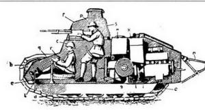 танк М в разрезе