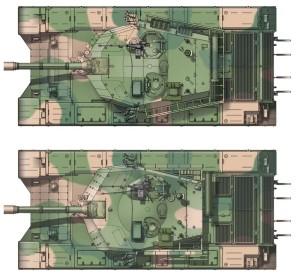 Тип 99 Вид сверху