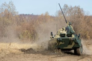 БТР-82А на стрельбах