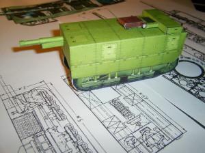 макет танка рыбитнского завода