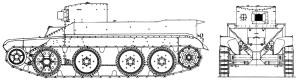 БТ-2ИС проекция