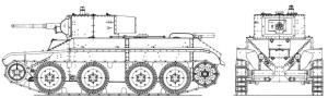 БТ-5ИС схема