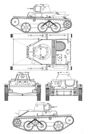 схема Т-43-1