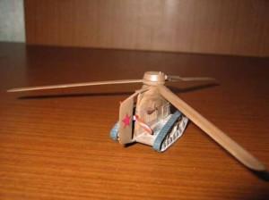 модель копия танка Камова вид сзади