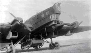 ТБ-3 с танком на внешней подвеске