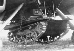 Т-37А на подвеске