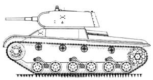 Один из вариантов танка «Объект 127». 1940 год
