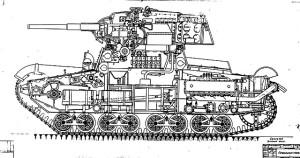 Разрез танка Т-126-1 (Т-26-5) 3