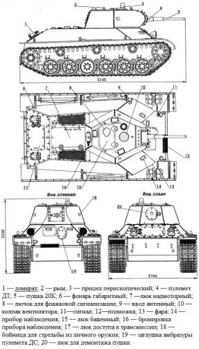 основные проекции Т-126-СП